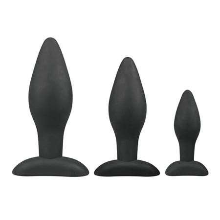Black Silicone Buttplug Set
