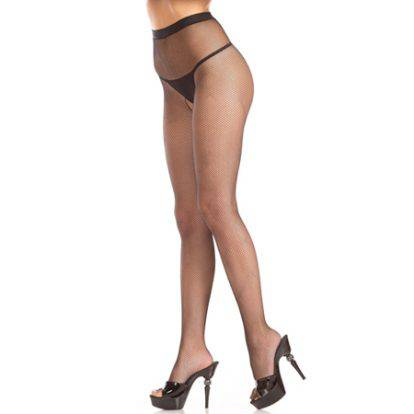 Crotchless Fishnet Seam Pantyhose with Diamonds