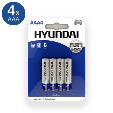 Super Alkaline AAA Batteries - 4 pcs