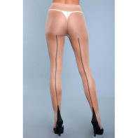 Ring My Line Pantyhose - Beige-2