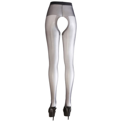 Crotchless Tights black-Cottelli Collection